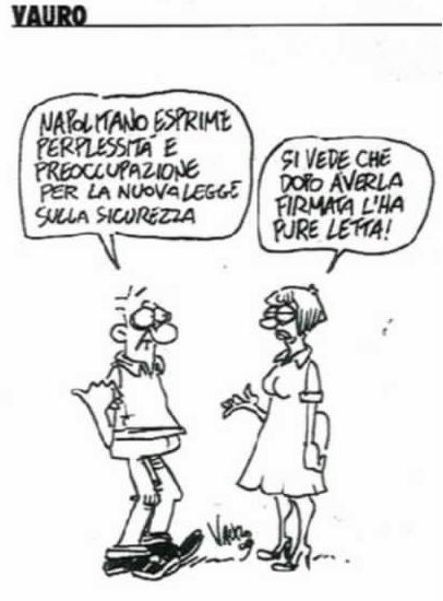 """vignetta de """"Il Manifesto"""" di oggi"""